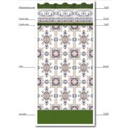 Azulejo Sevillano Frise Cenefa Cadiz 15x20 cm -  - Echantillon Ribesalbes