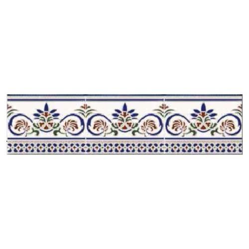Azulejo Sevillano Frise Cenefa Granada 15x20 cm -  - Echantillon - zoom