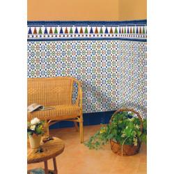 Azulejo Sevillano Cordon Azul 3x20 cm - - Echantillon Ribesalbes