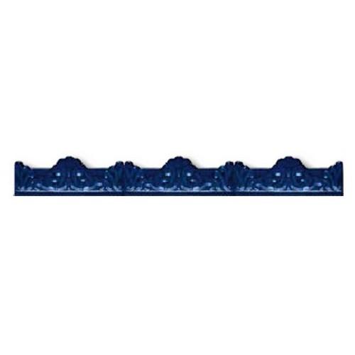 Azulejo Sevillano Moulure Baroque Bleu 5x20 - - Echantillon - zoom