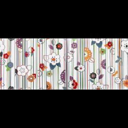 Faience murale colorée décor fleuri 20x50cm RON   - Echantillon Vives Azulejos y Gres