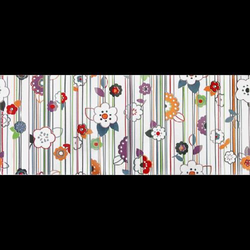 Faience murale colorée décor fleuri 20x50cm RON   - Echantillon - zoom