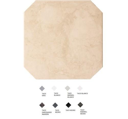 Carrelage octogonal marbré à cabochons 20x20 OCTAGON MARMOL BEIGE 21009 -   - Echantillon - zoom