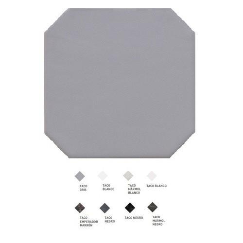 Carrelage octogonal à cabochons 20x20 OCTAGON GRIS 20555 -   - Echantillon Equipe