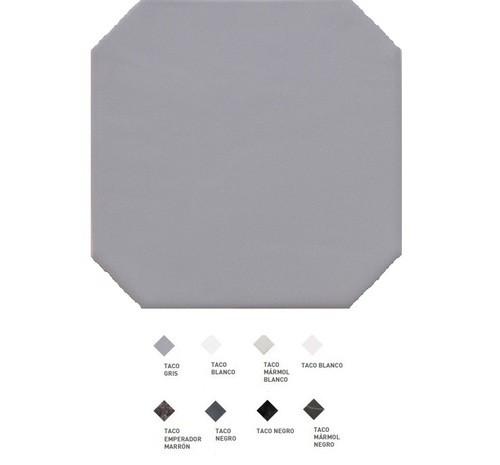 Carrelage octogonal à cabochons 20x20 OCTAGON GRIS 20555 -   - Echantillon - zoom