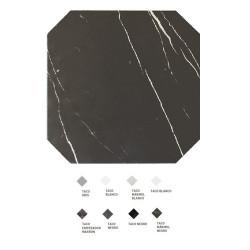 Carrelage octogonal marbré à cabochons 20x20 OCTAGON MARMOL NEGRO 21011 -   - Echantillon Equipe