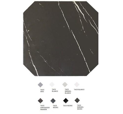 Carrelage octogonal marbré à cabochons 20x20 OCTAGON MARMOL NEGRO 21011 -   - Echantillon - zoom