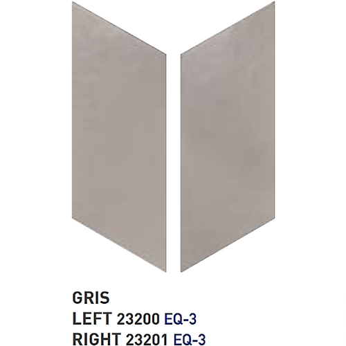 Chevron uni sol ou mur 9x2 cm GRIS -   - Echantillon Equipe