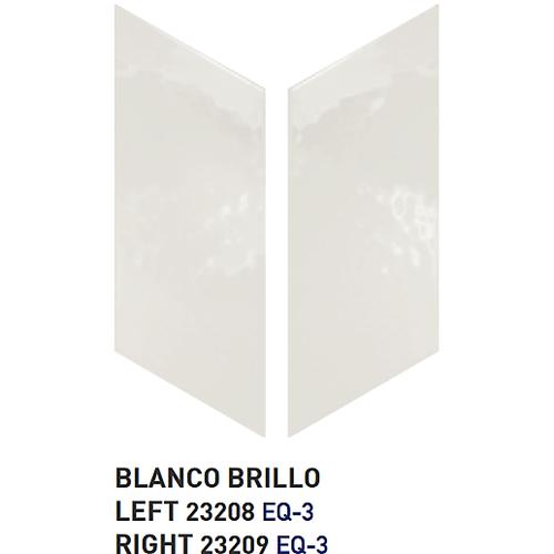 Chevron uni sol ou mur 9x2 cm BLANC BRILLANT -   - Echantillon - zoom