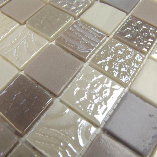 Dégradé mosaïque moka Markina 33 - Echantillon - zoom