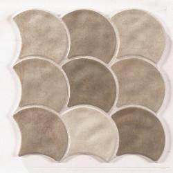 Carreau écaille beige 30x30 SCALE MUD -    - Echantillon Realonda