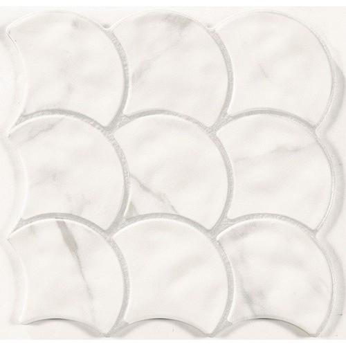 Carreau écaille marbré blanc gris 30x30 SCALE STATUARIO -    - Echantillon Realonda