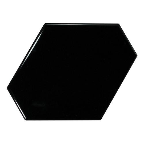 Carreau noir brillant 1 x12.4cm SCALE BENZENE BLACK - 23833 - - Echantillon - zoom