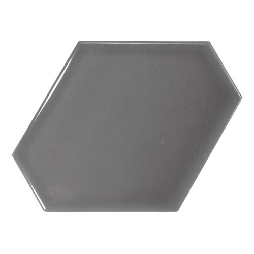 Carreau gris foncé brillant 1 x12.4cm SCALE BENZENE DARK GREY - 23829 -  - Echantillon - zoom