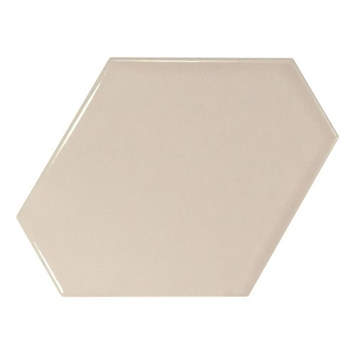 Carreau beige brillant 1 x12.4cm SCALE BENZENE GREIGE - 23827 -   - Echantillon Equipe
