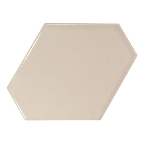 Carreau beige brillant 1 x12.4cm SCALE BENZENE GREIGE - 23827 -   - Echantillon - zoom