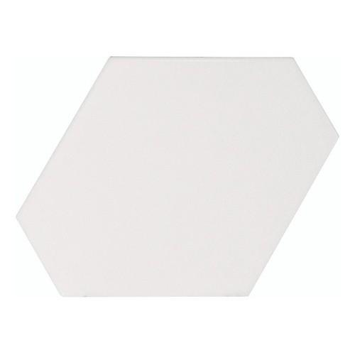 Carreau blanc mat 1 x12.4cm SCALE BENZENE WHITE MATT - 23824 -  Echantillon Equipe