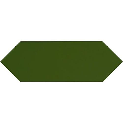 Faience navette crayon vert bouteille brillant 10x30 PICKET BOTTLE GREEN -   - Echantillon - zoom