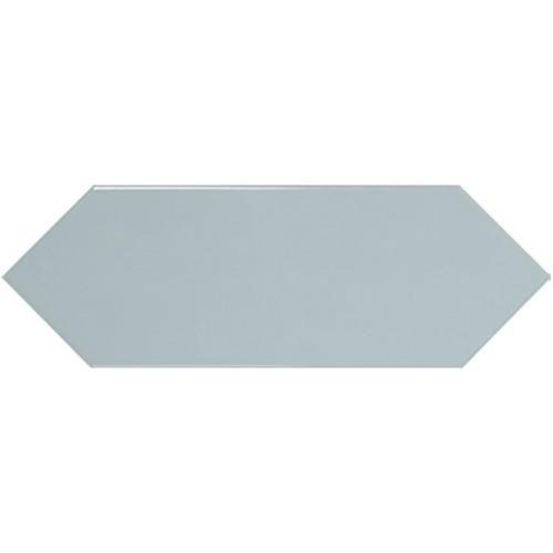 Faience navette crayon bleu ciel brillant 10x30 PICKET SKY BLUE -   - Echantillon - zoom