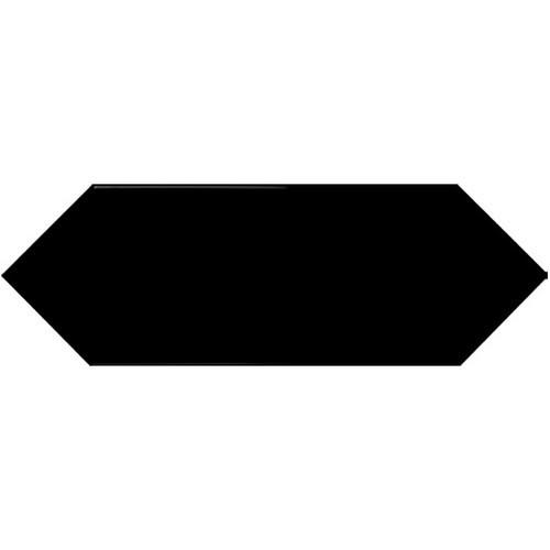 Faience navette crayon noir brillant 10x30 PICKET BLACK -   - Echantillon - zoom