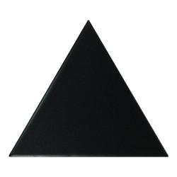 Carreau noir mat 1 x12.4cm SCALE TRIANGOLO BLACK MATT -  - Echantillon Equipe