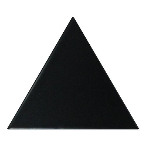 Carreau noir mat 1 x12.4cm SCALE TRIANGOLO BLACK MATT -  - Echantillon - zoom