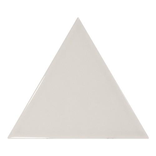 Carreau gris clair brillant 1 x12.4cm SCALE TRIANGOLO LIGHT GREY -  - Echantillon - zoom
