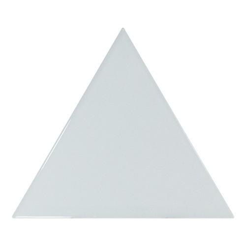 Carreau bleu ciel brillant 1 x12.4cm SCALE TRIANGOLO SKY BLUE -  - Echantillon Equipe
