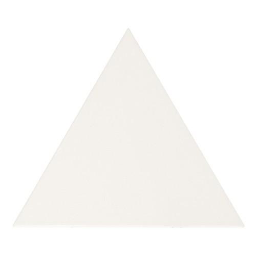 Carreau blanc mat 1 x12.4cm SCALE TRIANGOLO WHITE MATT 23811 -   - Echantillon Equipe