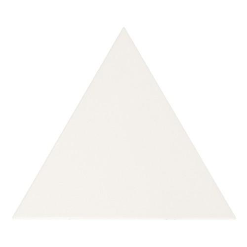 Carreau blanc mat 1 x12.4cm SCALE TRIANGOLO WHITE MATT 23811 -   - Echantillon - zoom