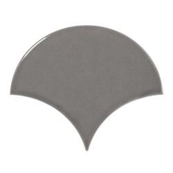 Carreau gris foncé brillant 10.6x12cm SCALE FAN DARK GREY - - Echantillon Equipe