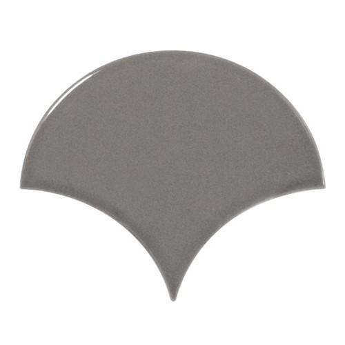 Carreau gris foncé brillant 10.6x12cm SCALE FAN DARK GREY - - Echantillon - zoom
