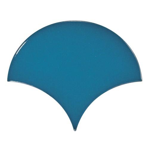 Carreau bleu électrique 10.6x12cm SCALE FAN ELECTRIC BLUE -- Echantillon - zoom
