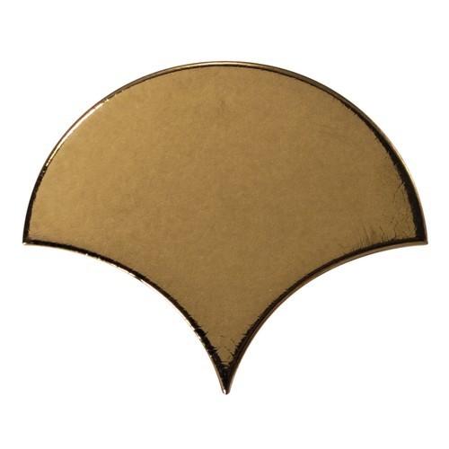 Carreau or métallisé 10.6x12cm SCALE FAN METALLIC 23842 - - Echantillon Equipe