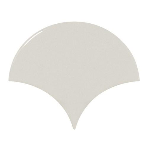 Carreau menthe brillant 10.6x12cm SCALE FAN MINT -  - Echantillon Equipe