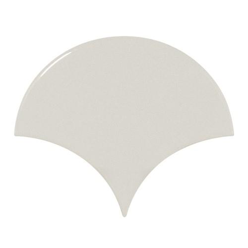 Carreau menthe brillant 10.6x12cm SCALE FAN MINT -  - Echantillon - zoom