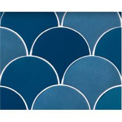 Carreau écaille bleu marine nuancé 12.7x6.2 SQUAMA TURCHESE -   - Echantillon Natucer
