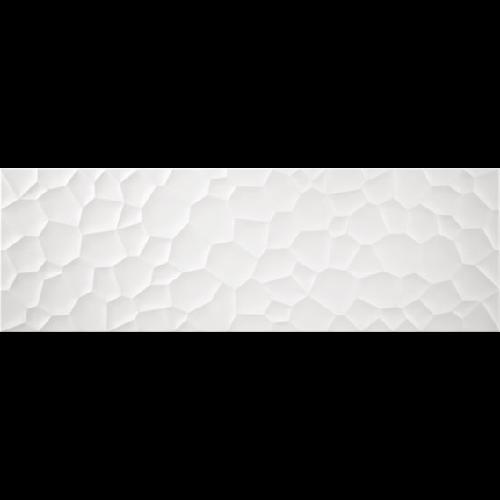 Faience unie blanche en relief mat 33.3x100 cm PRISMA NITRA BLANCO MATE - Echantillon - zoom