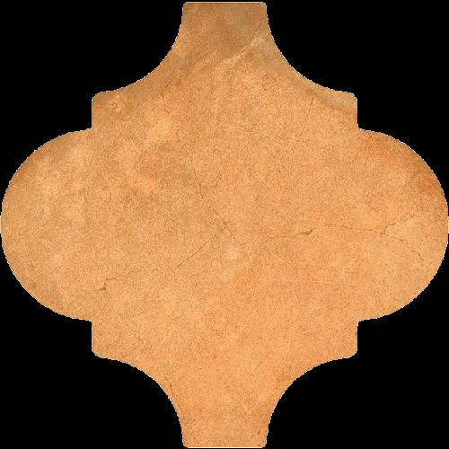 Carrelage provençal 20x20cm décor terre cuite BUXTON Natural -- Echantillon - zoom