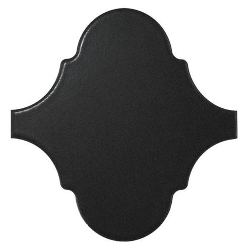 Carreau noir mat 12x12 SCALE ALHAMBRA BLACK MATT -  - Echantillon Equipe