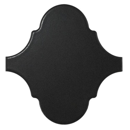 Carreau noir mat 12x12 SCALE ALHAMBRA BLACK MATT -  - Echantillon - zoom