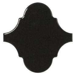 Carreau noir brillant 12x12cm SCALE ALHAMBRA BLACK - 21935 -  - Echantillon Equipe