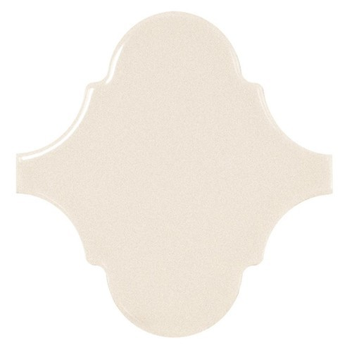Carreau crème brillant 12x12cm SCALE ALHAMBRA CREAM -   - Echantillon Equipe