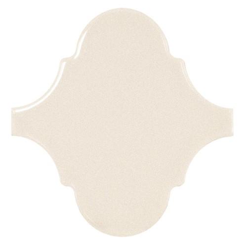Carreau crème brillant 12x12cm SCALE ALHAMBRA CREAM -   - Echantillon - zoom