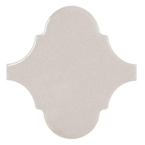 Carreau gris clair brillant 12x12cm SCALE ALHAMBRA LIGHT GREY -   - Echantillon Equipe