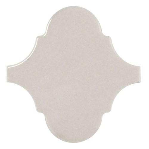 Carreau gris clair brillant 12x12cm SCALE ALHAMBRA LIGHT GREY -   - Echantillon - zoom