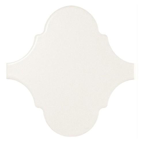 Carreau blanc mat 12x12 SCALE ALHAMBRA WHITE MATT 21933 -  - Echantillon - zoom