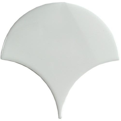 Carreau écaille blanc riz 12.7x6.2 SQUAMA LUZ pour sol -  - Echantillon - zoom