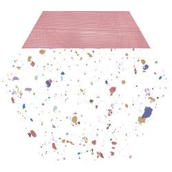 Tomettes terrazzo décorées 25x29 cm HEX-STRACCIATELLA PINK NATURAL - 0.935m² Aparici