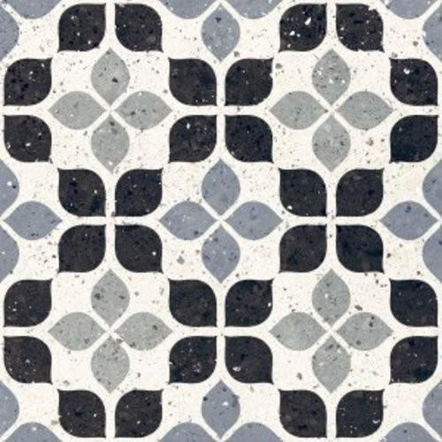 Carrelage à motif effet terrazzo bleu 20x20 cm AZZURRO FIORE - 1.16m² Faetano
